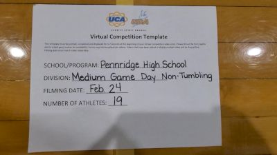 Pennridge High School [Game Day - Medium Non Tumbling] 2021 UCA February Virtual Challenge