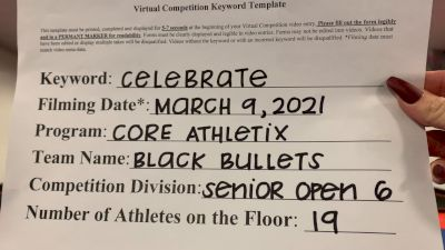Core Athletix - Black Bullets [L6 Senior Open] 2021 Spirit Festival Virtual Nationals