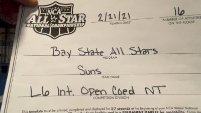 Bay State All Stars - Suns [L6 International Open Coed - NT] 2021 NCA All-Star Virtual National Championship