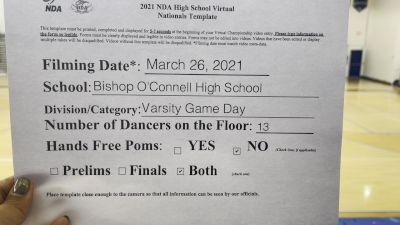 Bishop O'Connell High School [Varsity - Game Day - Medium Virtual Finals] 2021 NDA High School National Championship