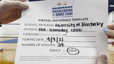 University of Kentucky-Cheer - University of Kentucky [Virtual Division IA Game Day - Cheer Semi Finals] 2021 UCA & UDA College Cheerleading & Dance Team National Championship