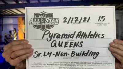 Pyramid Athletics - Queens [L4 Senior - Non-Building] 2021 NCA All-Star Virtual National Championship