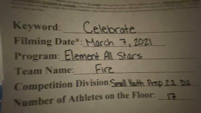 Element All Stars - Fire [L2.2 Youth - PREP] 2021 Spirit Festival Virtual Nationals
