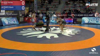 76 kg: Victoria Francis vs. Martina Kuenz (Austria)
