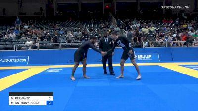 MIHA PERHAVEC vs MICHAEL ANTHONY PEREZ 2021 World IBJJF Jiu-Jitsu No-Gi Championship