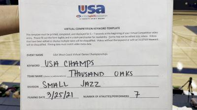 Thousand Oaks High School [Jazz Varsity - Small] 2021 USA Virtual West Coast Dance Championships