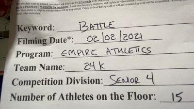 Empire Athletics - 24K [L4 Senior - D2] 2021MG Extravaganza Virtual Nationals