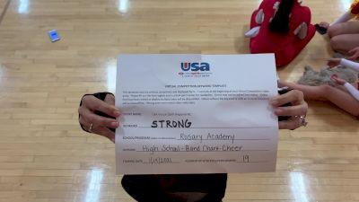 Rosary Academy [High School – Band Chant – Cheer] 2021 USA Virtual Spirit Regional #1