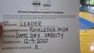 Rockledge High School [Game Day Varsity] 2020 UCA North Florida Virtual Regional