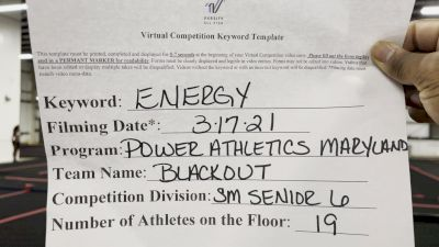 Power Athletics - Maryland - Blackout [L6 Senior - Small] 2021 Beast of The East Virtual Championship