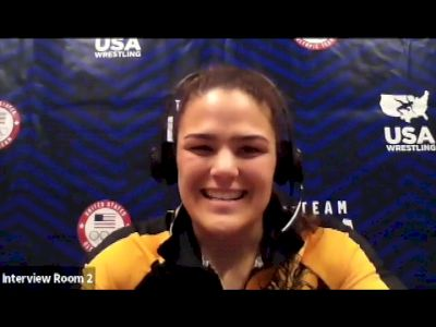 Kayla Miracle (62 kg) after making the 2021 Olympic team