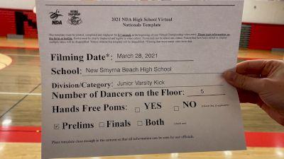 New Smyrna Beach High School Showdolls [Virtual Junior Varsity - Kick Prelims] 2021 NDA High School National Championship