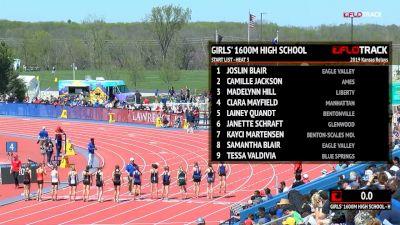 High School Girls' 1600m, Heat 3