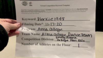 Alma College [Open - Solo] 2020 NDA November Virtual Championship