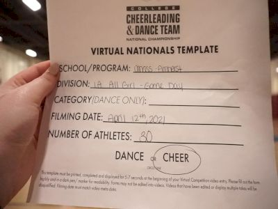 University of MassachusettsAmherst [Virtual All Girl Division IA Game Day - Cheer Semi Finals] 2021 UCA & UDA College Cheerleading & Dance Team National Championship