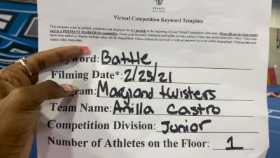 Maryland Twisters - Anilla Castro - Finals [Junior Athlete] 2021 Battle In The Arena