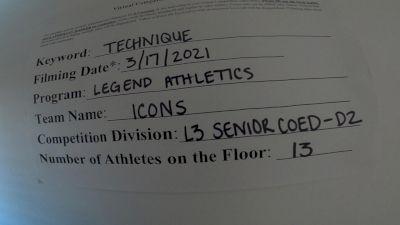 Legend Athletics - Icons [L3 Senior Coed - D2] 2021 Varsity All Star Winter Virtual Competition Series: Event IV
