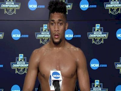 Carter Starocci (Penn State) after 174-pound semifinal win at 2021 NCAA Championships