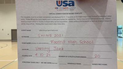 Foothill High School - North Tustin [Varsity - Jazz Prelims] USA Spirit & Dance Virtual National Championships