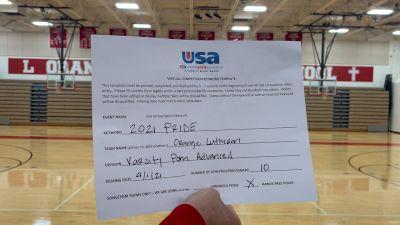 Orange Lutheran High School [Varsity - Song/Pom - Advanced] USA Spirit & Dance Virtual National Championships