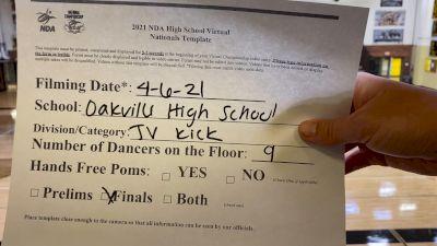 Oakville High School [Junior Varsity - Kick Virtual Finals] 2021 NDA High School National Championship
