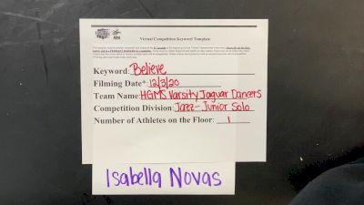 Hialeah Gardens Middle School Isabella N. [Junior - Solo] 2020 NDA December Virtual Championship