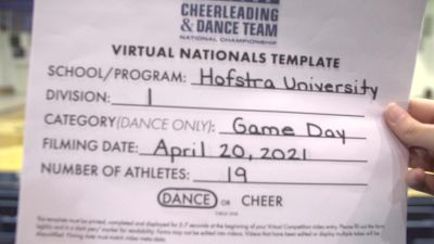 Hofstra University [Division I Dance Game Day Virtual Finals] 2021 UCA & UDA College Cheerleading & Dance Team National Championship