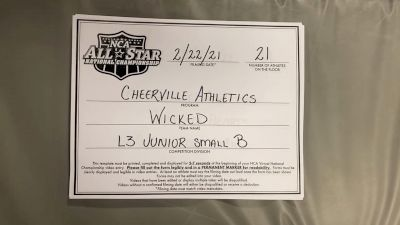 CheerVille Athletics HV - Wicked [L3 Junior - Small - B] 2021 NCA All-Star Virtual National Championship