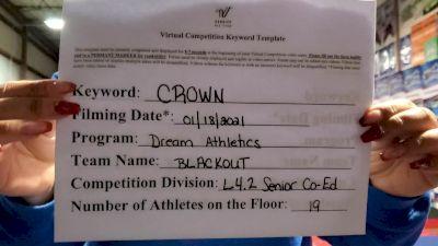 Dream Athletics - Blackout [L4.2 Senior Coed] 2021 Spirit Unlimited: Virtual Battle at the Boardwalk