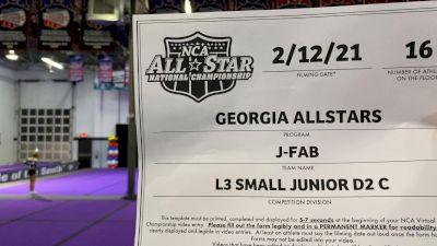 Georgia All Stars - J‐Fab [L3 Junior - D2 - Small - C] 2021 NCA All-Star Virtual National Championship