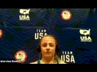 Macey Kilty (62 kg) after winning challenge tournament at 2021 Olympic Trials
