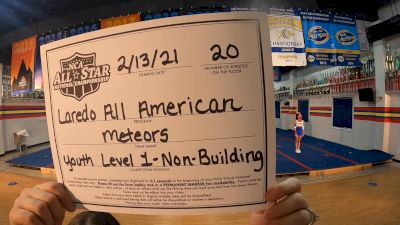 Laredo All American - Meteors [L1 Youth - Non-Building] 2021 NCA All-Star Virtual National Championship