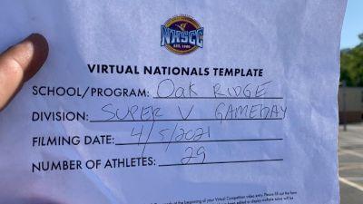 Oak Ridge High School [Virtual Super Varsity - Game Day Semi Finals] 2021 UCA National High School Cheerleading Championship