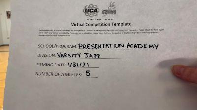 Presentation Academy [Small Varsity Jazz] 2021 UDA South Spring Virtual Dance Challenge