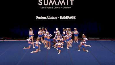 Fusion Allstars - RAMPAGE [2021 L4.2 Senior - Medium Semis] 2021 The D2 Summit