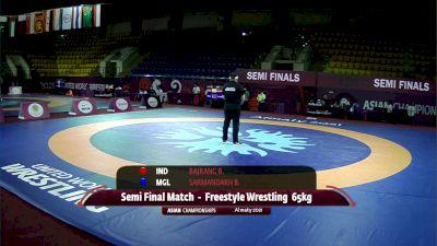 65 kg Semifinal, Bajrang (IND) vs Sarmandakh (MGL)