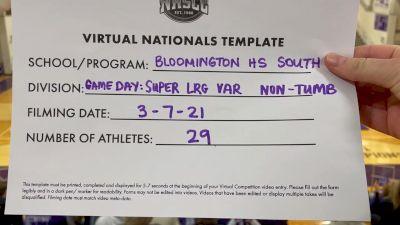 Bloomington High School-South [Virtual Super Varsity Non Tumbling Game Day Finals] 2021 UCA National High School Cheerleading Championship