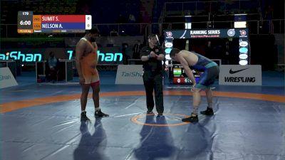 125 kg Anthony Robert NELSON, USA vs Sumit SUMIT, IND