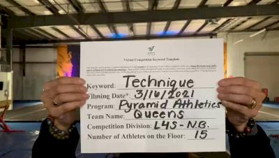Pyramid Athletics - Queens [L4 Senior - Non-Building] 2021 Varsity All Star Winter Virtual Competition Series: Event IV