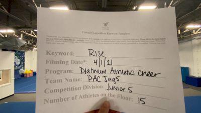 Platinum Athletics - PAC JAG5 [L5 Junior] 2021 The Regional Summit Virtual Championships