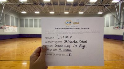 St Marks School [Game Day Junior High] 2020 UCA Louisiana Virtual Regional