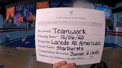 Laredo All American - Starbursts [Level 2 L2 Junior - Non-Building] Varsity All Star Virtual Competition Series: Event VII