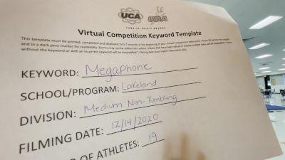 Lakeland High School [Medium Varsity Non Tumble] 2020 UCA Virtual Regional