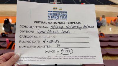 Ottawa University Arizona [Virtual Open Small Coed Semi Finals] 2021 UCA & UDA College Cheerleading & Dance Team National Championship