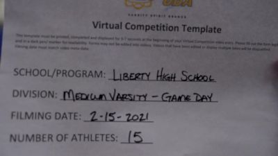 Liberty High School [Varsity - Game Day] 2021 UDA Spirit of the Midwest Virtual Challenge